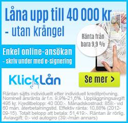 Klicklån annons